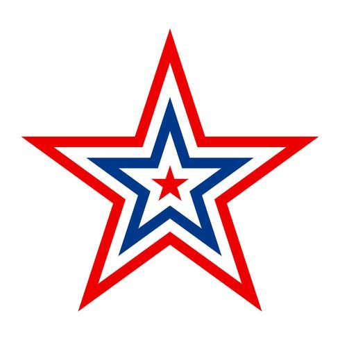 Icône de vecteur étoile Amérique