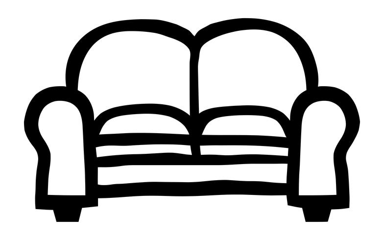 Couch-Vektor-Symbol