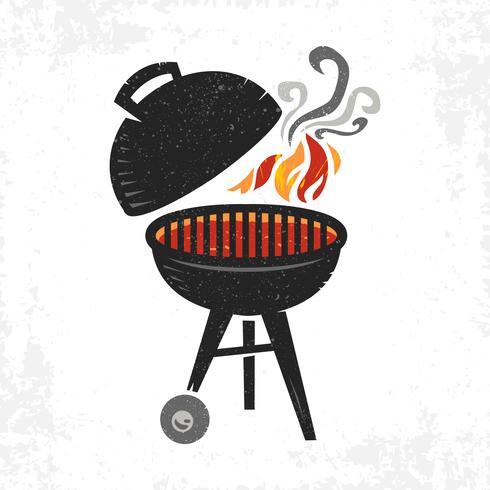 Icona di vettore di barbecue grill