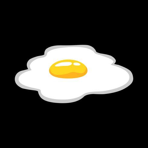 Stekt ägg vektorikonen vektor