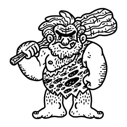 Höhlenmensch Cartoon Vektor
