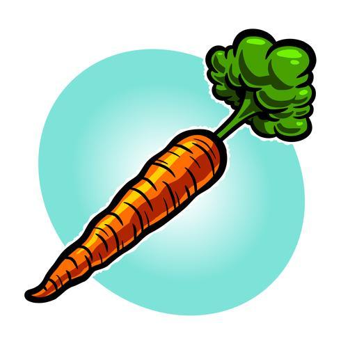 Dibujos animados de zanahoria vegetal