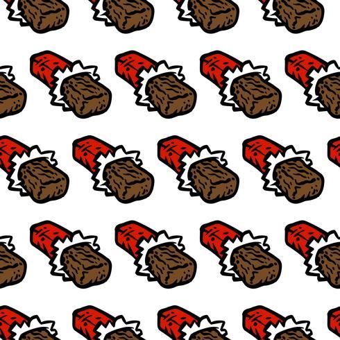 chocoladereep cartoon naadloze patroon