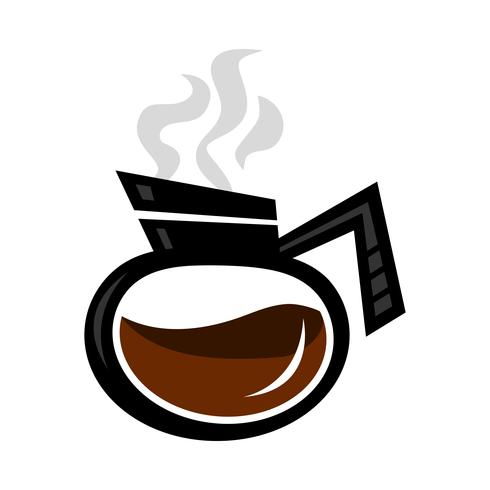 Kaffekanna Hot Drink Cartoon Illustration vektor