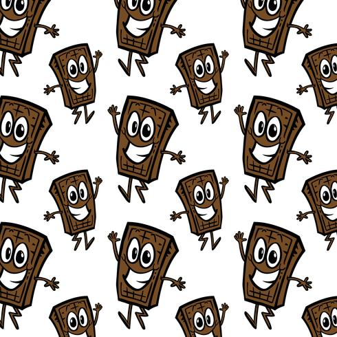 chocoladereep cartoon naadloze patroon vector