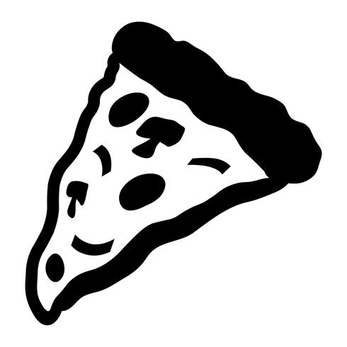 Icône de vecteur de tranche de pizza