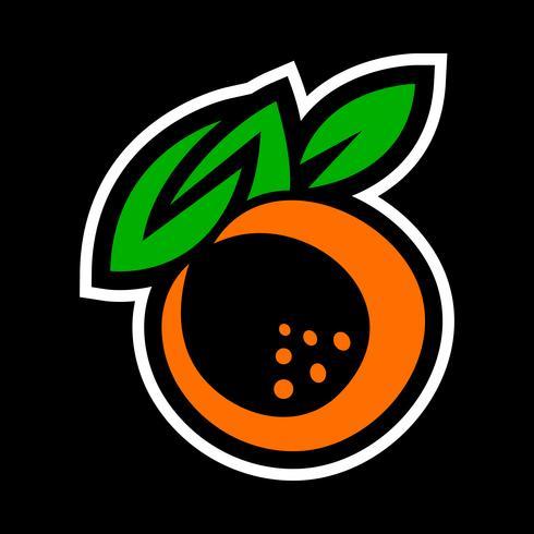 Ilustração de fruta laranja