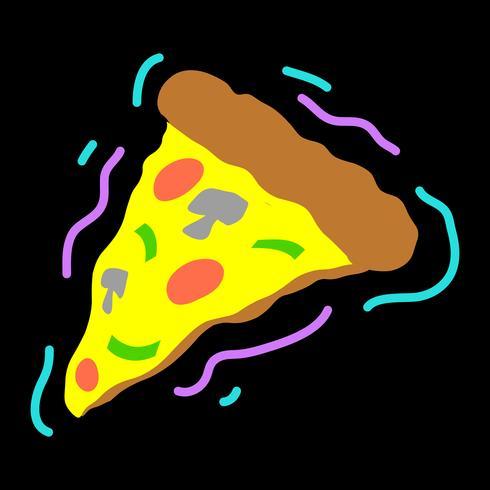icono de vector de rebanada de pizza
