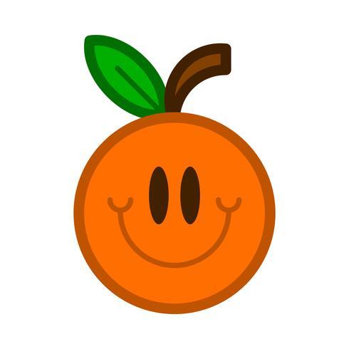 Orange fruit illustration vector