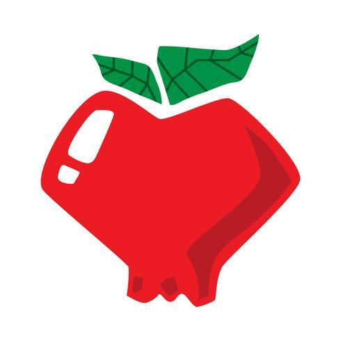 Apple tecknad vektor ikon