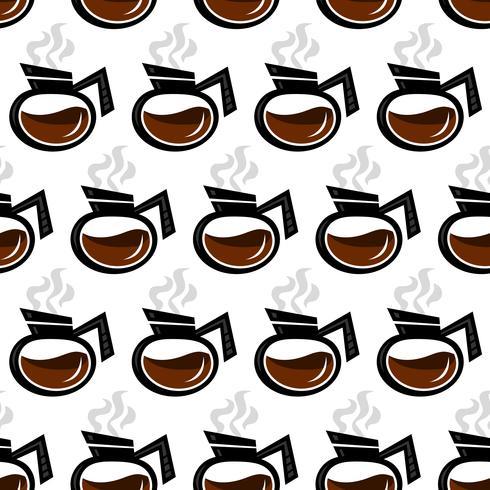 Ilustração em vetor bebida quente de pote de café