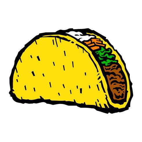 Illustration vectorielle taco