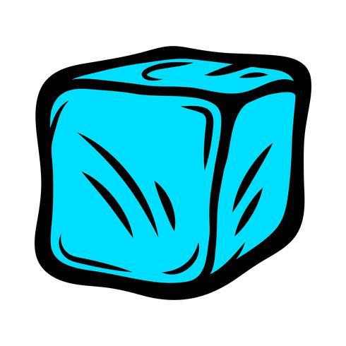 Frysta isbitar för drycker