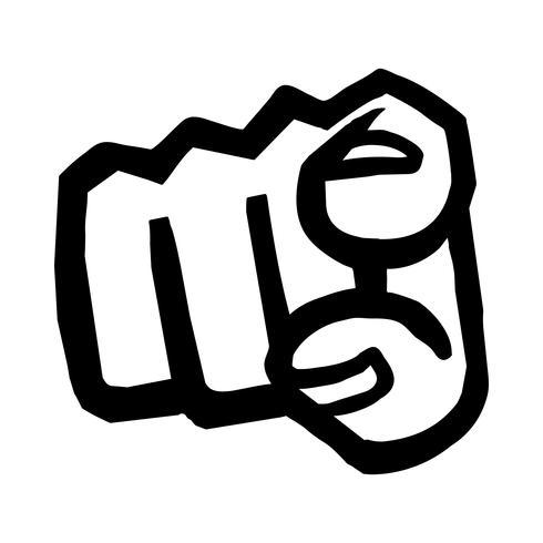 finger punkt vektorikonen