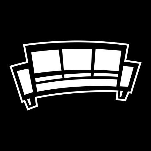 Icono de vector de sofá