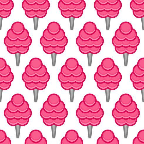 Flaumige Karikatur der ungesunden Fertigkost der Zuckerwatte