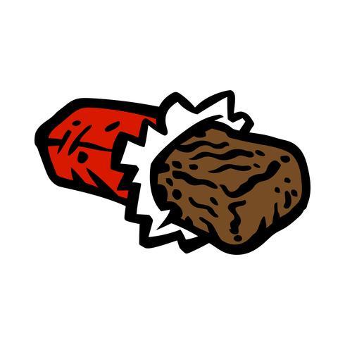 dibujos animados de barra de chocolate vector