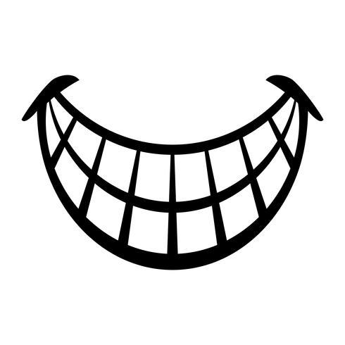 Große glückliche Toothy Karikatur-Lächelnvektorikone