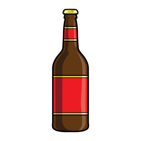 vector illustration of a beer bottle