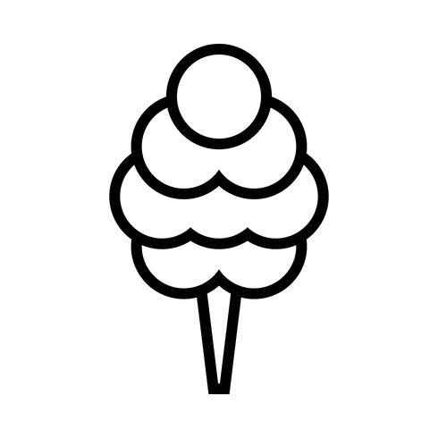 Dibujos animados de comida chatarra mullida de algodón de azúcar