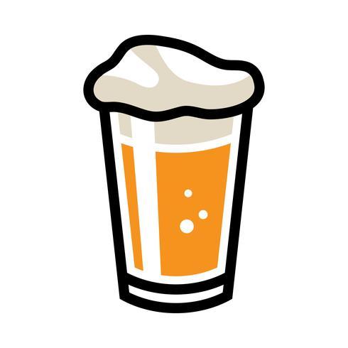 Icona di vettore di vetro di birra pinta