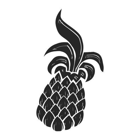 Ananasfrukt vektor