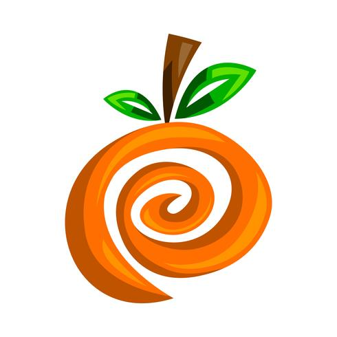 Orange fruit illustration vector