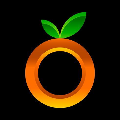 Ilustración de fruta naranja