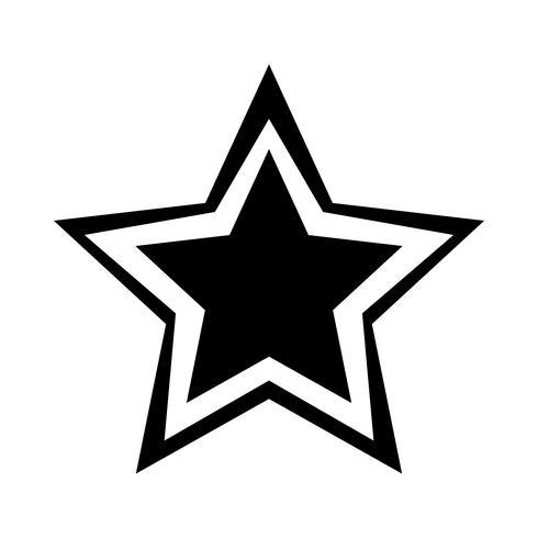 Ster vector pictogram
