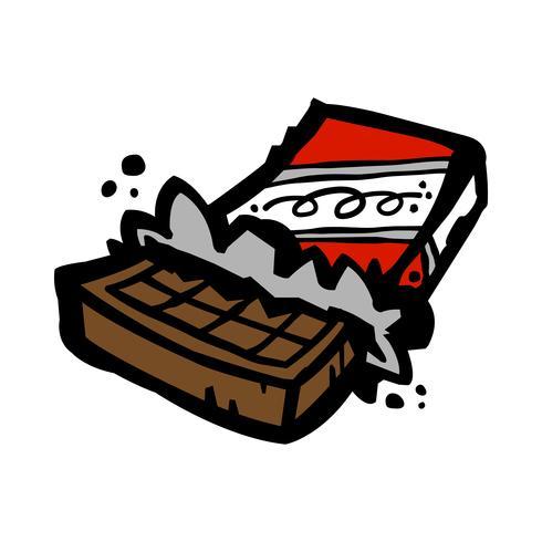desenho de barra de chocolate vetor