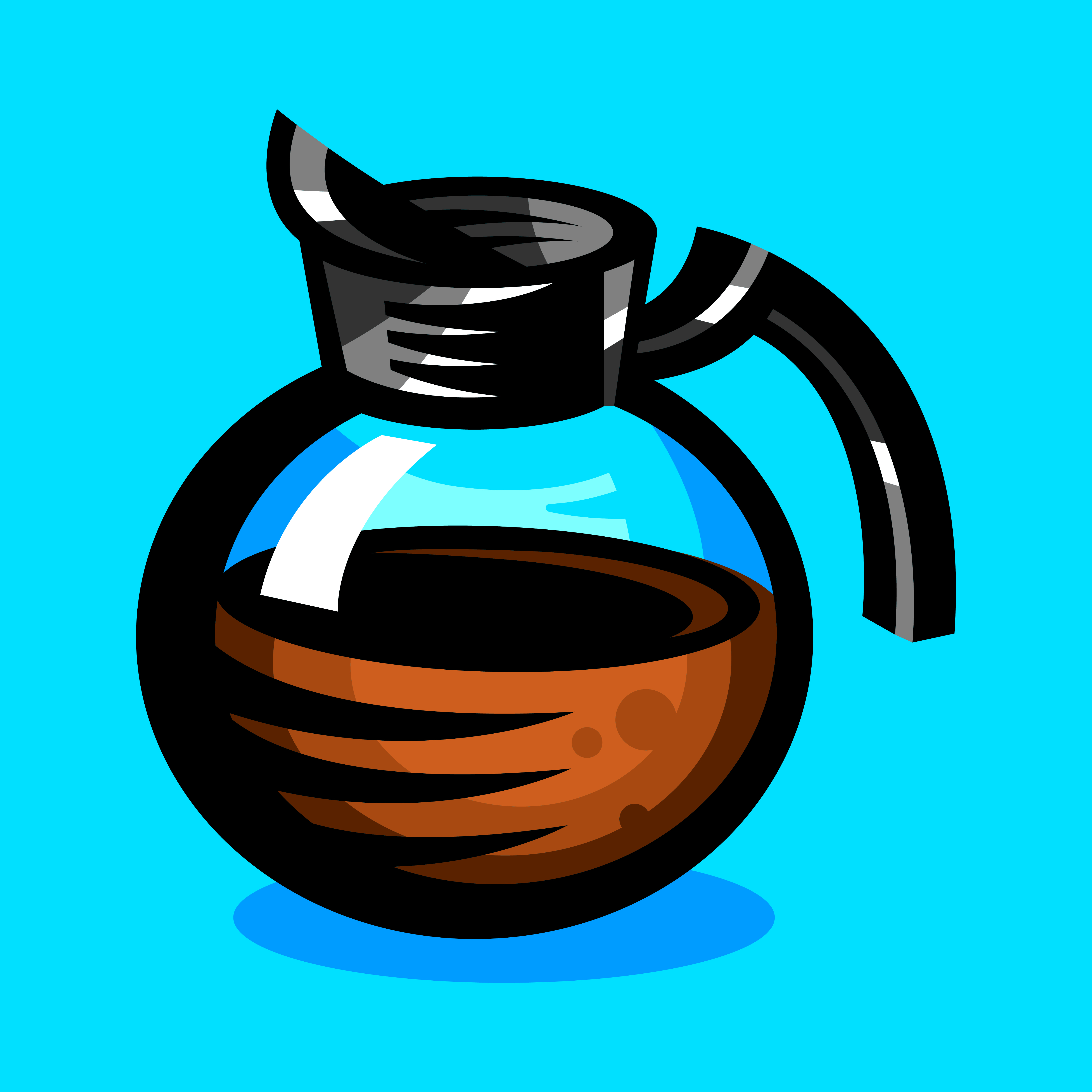 Coffee Pot Hot Drink Cartoon Illustration - Download Free ...