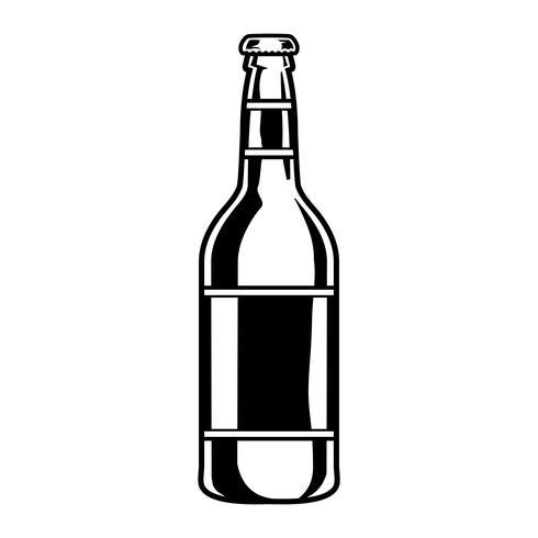 vektor illustration av en ölflaska