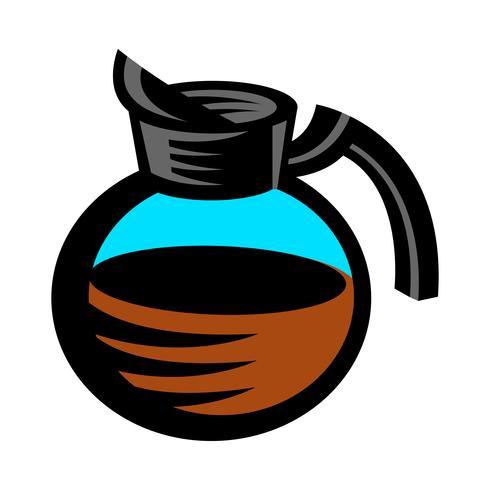 Kaffekanna Hot Drink Cartoon Illustration vektor