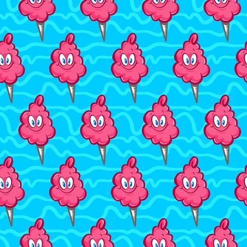 Cotton candy fluffig skräpmat tecknad vektor