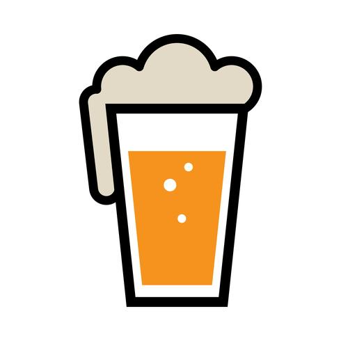 Bière Pint Glass Vector Icon