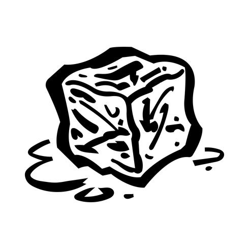 Frozen ice cubes for drinks vector