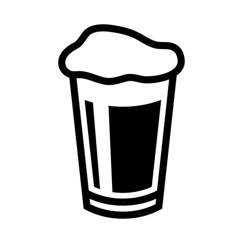Bier Pint glas vector pictogram