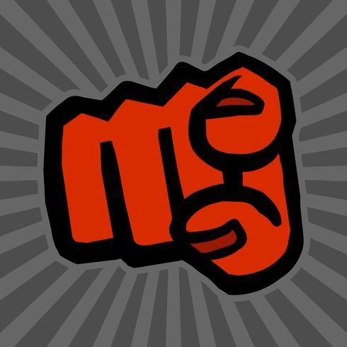 Icono de Vector de punto de dedo