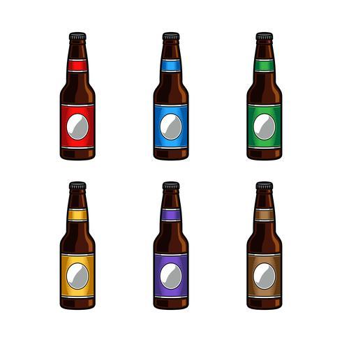 Vektor-Illustration einer Bierflasche