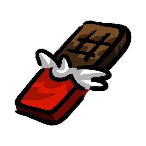 dibujos animados de barra de chocolate