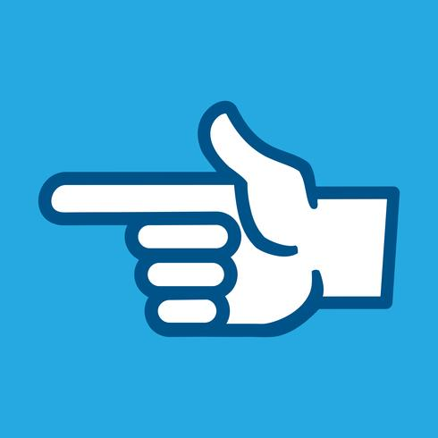 Ícone de vetor de ponto de dedo