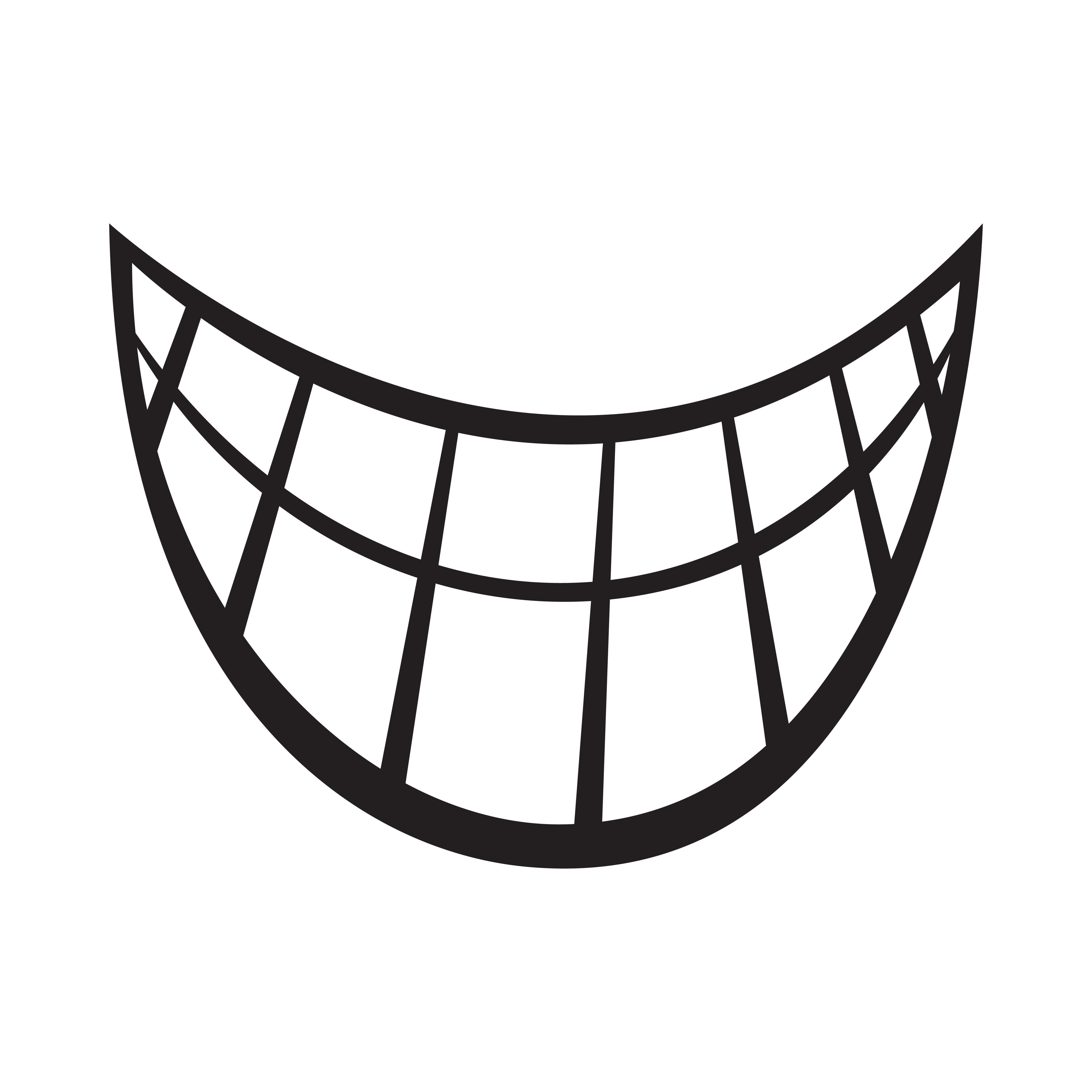Big Happy Toothy Cartoon Smile vector icon - Download Free ...