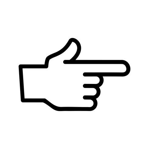 finger punkt vektorikonen vektor