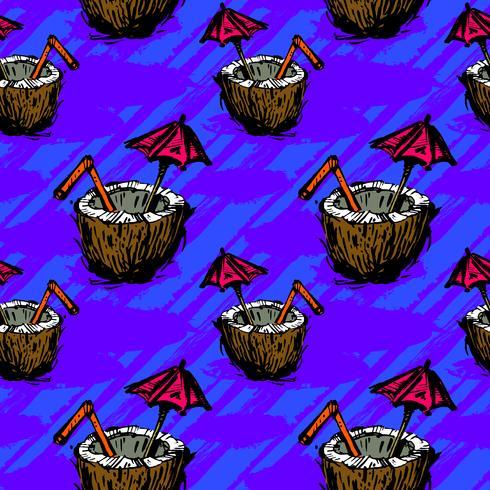 Tropisk kokosnötdryck illustration vektor