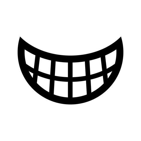 Grande feliz Toothy Cartoon Smile ícone vector