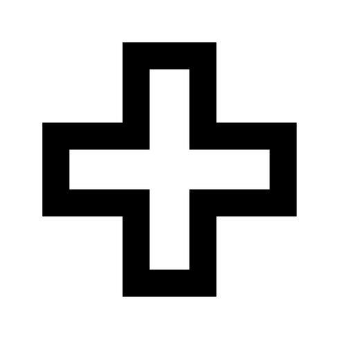 Icono de vector de signo más