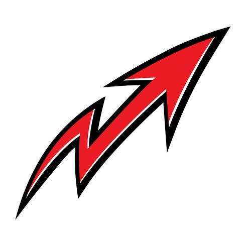 Icona della freccia vettore