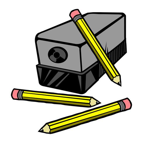 Vector illustration of an electric pencil sharpener with ...