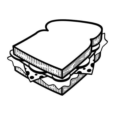 Illlustration de vetor de desenhos animados de sanduíche