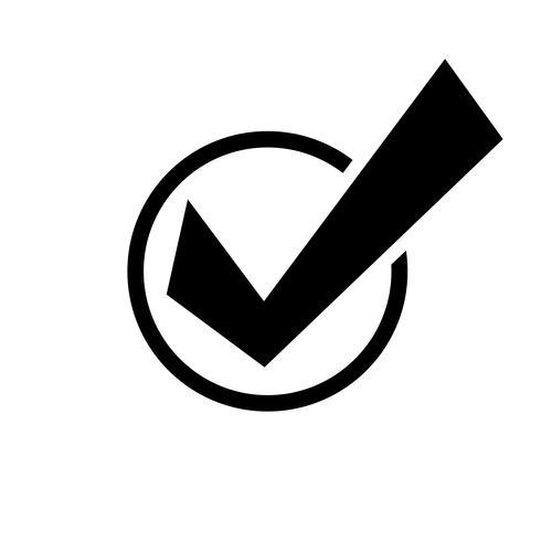 Icona di vettore del segno di spunta